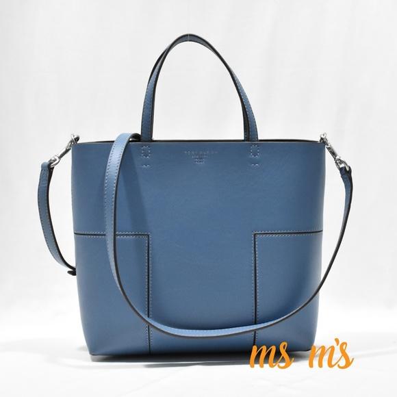 82c9c00c769b NWT Tory Burch Block T leather Mini Tote Bag